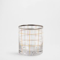 GOLD LINES GLASS TUMBLER - Glassware - Tableware | Zara Home Norway