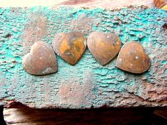 Aqua and Copper - Handmadeology Team Treasures! by Betty on Etsy