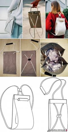 Sewing Hacks, Sewing Crafts, Sewing Projects, Bag Patterns To Sew, Sewing Patterns, Handbag Patterns, Fashion Sewing, Diy Fashion, Sewing Clothes