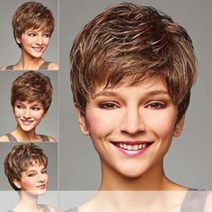 Henry margu (amber) - synthetic full wig short hair for 2017 Mom Haircuts, Short Haircuts With Bangs, Thin Hair Haircuts, Cute Hairstyles For Short Hair, Wig Hairstyles, Natural Hairstyles, Shaggy Short Hair, Short Thin Hair, Short Hair With Layers