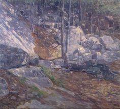 """Landscape, Charles Salis Kaelin, oil on canvas, 25 x 28"""", private collection."""