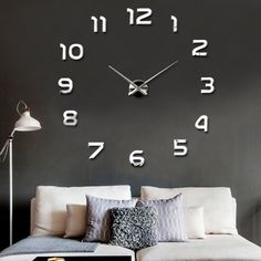 New Mirrors Surface Modern Art DIY 3D Wall Clock Luxury Home Living Room  Decor In Home Design Inspirations