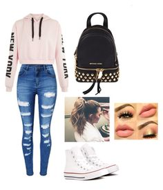 """""""School outfit"""" by virginiamendoza on Polyvore featuring WithChic, Converse and Michael Kors"""