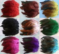 Wholesale 50-200pcs beautiful the rooster tail feather 6-8inch / 14-18cm