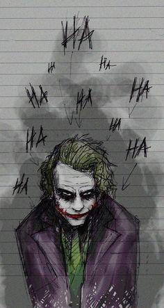 Art inspired by The Joker played by Heath Ledger in A Dark Knight Batman Comics, Le Joker Batman, Der Joker, Batman Art, Joker And Harley Quinn, Dc Comics, Batman Stuff, Heath Ledger Joker, Image Joker