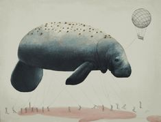 Dugong. Surreal Illustrations of Animals in Mid-Construction. By Ricardo Solis.