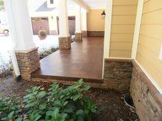 Stained Concrete for Exterior Porches & Patios | Decorative Concrete of Virginia (VA)porch