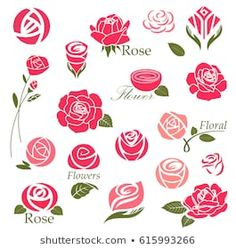Flower Drawing Tutorials, Watercolor Projects, Floral Drawing, Flower Nail Art, Floral Logo, Flower Clipart, Stencil Designs, Hand Embroidery Designs, Fabric Painting