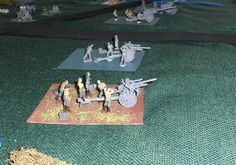 German gun line. Various calibre guns defend against the Russian attack. Some of my models still need painting but I had been collecting models for this one game for over two years so was keen to get them onto the table!