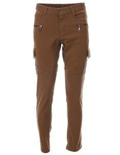 136c17365548 FLATSEVEN Homme Slim Fit Combat Pantalon Cargo Pants Premium Coton (CH175)  Khaki