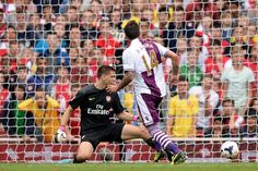 Aston Villa's Antonio Luna scores his side's third goal of the game