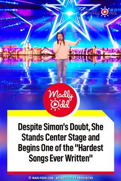 Simon is always doubting people. This is not an easy song to sing and to try it on BGT is brave. I hope she goes far. bgt #BritainsGotTalent #music Live Music, Good Music, Britain Got Talent, Up For The Challenge, Simon Cowell, Songs To Sing, She Song, America's Got Talent, Center Stage