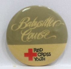 Red Cross Youth Babysitter Course Pin Badge Button Pinback Red Cross, Pin Badges, Youth, Buttons, Store, Ebay, Storage, Shop, Young Adults
