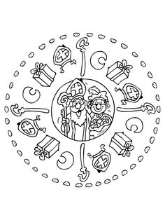 Christmas crafts for kids, christmas themes, kids crafts, saint nicolas, ad Christmas Trees For Kids, Christmas Themes, Coloring Sheets, Coloring Pages, St Nicholas Day, Saint Nicolas, Mandala Coloring, Scrappy Quilts, Winter