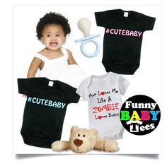 """""""SHOP - Funny Baby Tees"""" by ladymargaret ❤ liked on Polyvore"""