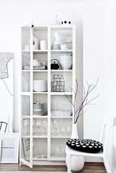 white on white. Sideboard. - found on regineskreativiteter