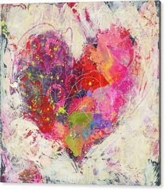 Kunstjournal Inspiration, Art Journal Inspiration, Heart Artwork, Heart Painting, Ideias Diy, Mellow Yellow, Acrylic Art, Medium Art, Collage Art