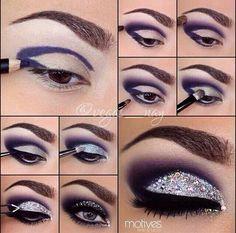 Pictorial by @vegas__nay..okay wow this eye make up I love!! #purple #sparkle #smokey