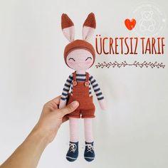 Crochet Animal Amigurumi, Crochet Amigurumi Free Patterns, Crochet Animal Patterns, Stuffed Animal Patterns, Amigurumi Doll, Crochet Rabbit, Cute Crochet, Handmade Baby, Handmade Toys