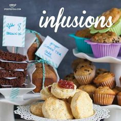 Infuse your life (and baking) with tea! Our very own blends of quality ingredients and secret recipes bring you an easy and no-fuss, gourmet baking experience. We won't tell if you have more than one