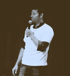 (gif) Misha Collins: When someone says there only going to watch one episode.