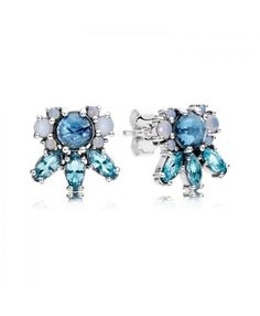 Pandora Patterns of Frost Multi Colored Crystal Earrings 290731NMBMX Sale UK