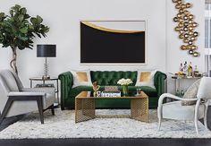Bijou View Room Idea #roomidea #homedecor #highfashionhome #livingroom #furniture #sofa #rug
