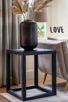 Bijzettafel Blax 50x50 is krachtig, speels en mysterieus. De zwarte salontafel straalt elegantie uit en geeft een knus gevoel. Breng contrast in je interieur met onze Blax collectie, gemaakt van zwart eiken. #richmondinteriors #sohome #sohomenl #new #zitkamer #myhome2inspire #interieurinspiratie #interior123 #interiorforyou #interior4all #interiör #interior #interiorlovers #landelijkwonen #stijlvolwonen #interior #homeadore #homestyles #interioresdesign #interiorstyling #interiordesign Richmond Interiors, Interiores Design, Furniture, Home Decor, Decoration Home, Room Decor, Home Furnishings, Home Interior Design, Home Decoration