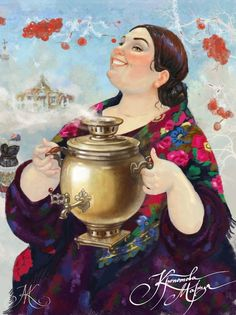 Мария Кропотова Санкт-Петербург, Россия Russian Painting, Russian Art, Figure Painting, Plus Size Art, Art Through The Ages, Fairy Tail Art, Cartoon Art Styles, Tea Art, Beautiful Drawings