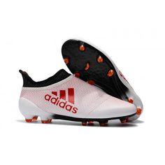 finest selection d2c9c 80bab Adidas X 17+ Purechaos FG Fotbollsskor Vit och röd Fotbollsskor, Fotbollskor