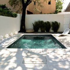 Mini pool on pinterest piscine hors sol small pool for Piscine liner gris