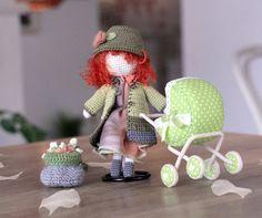 Crocheted Doll. Amigurumi doll. Plush doll.♡ by Creativhook on Etsy