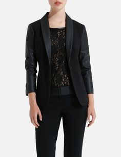 Faux Leather Jacket from THELIMITED.com  $128