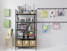 At Lowe's, you'll find plenty of affordable storage and organization solutions to keep your kid's space neat and tidy. From storage containers and storage bins to accessories like pegboards and shelf liners, we've got the storage options and organization ideas that'll fit your needs. #organization #kidsroom #storagesolutions #tidy