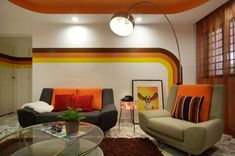 70s geographic home decor affect in modern tract housing #retrohomedecor