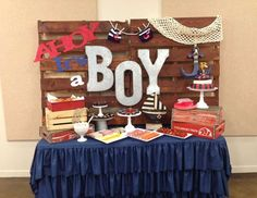 """Nautical / Baby Shower """"Ahoy it's a Boy"""" 