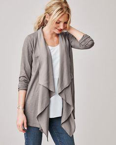 Silk-Trimmed Knit Cardigan