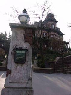 A haunting look towards the Phantom Manor, the Disneyland Resort Paris version of the classic Haunted Mansion.