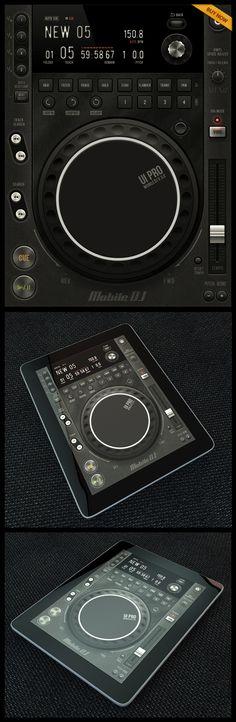 Mobile DJ Tablet #ui #ios #iPad