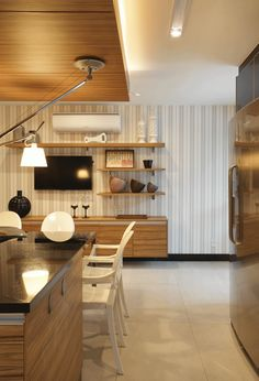 Residência Barra da Tijuca / AF Arquitetura #kitchen #lighting #forro