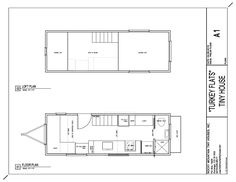 24' deck between tiny home plan - Rocky Mountain Tiny Homes