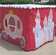 The Princess' Royal Castle Card Table Playhouse, Personalized, Custom Order. $205.00, via Etsy.