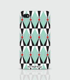 Green Circus - iPhonecase by Lisa Edoff Design #nordicdesigncollective #nordic #nordicdesign #autumn #backtoschool #backtowork #schoolstart #iphone #lisaedoffdesign #circus #green #greencircus #accessory #smartphoneaccessory #smartphone #case #pattern #red #dot #triangle #black #white