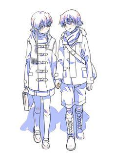 Yuno and Yuki // Mirai Nikki