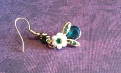 Vintage Costume Green Emerald and Pearl Bee by SantaCruzSeraph