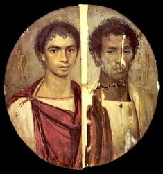 Tondo of the two brothers by Timarchos1, via Flickr  Cairo, Egyptian Museum