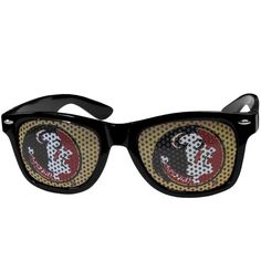 These officially licensed NCAA game day wayfarers are the perfect accessory for the devoted NCAA fan! The sunglasses have durable polycarbonate frames with flex hinges for comfort and damage resistance. The lenses feature brightly colored team clings that are perforated for visibility