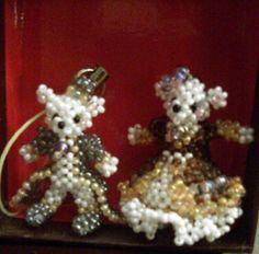 Beaded prince and princess bears by BeadedBearHeaven on Etsy, $45.00