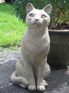 (◔◡◔) Sitting Cat statue