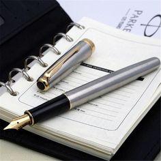 1pcs/lot Parker Pen 10 Color Options Parker Sonnet Fountain Pen Brand Silver Clip 0.5mm Black/Red/Blue Gifts For Men 13.8*1.1cm
